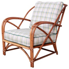 Heywood Wakefield Hollywood Regency Mid-Century Modern Rattan Lounge Chair
