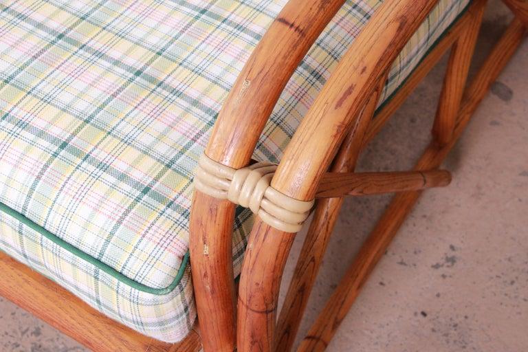 Heywood Wakefield Hollywood Regency Mid-Century Modern Rattan Sofa For Sale 2
