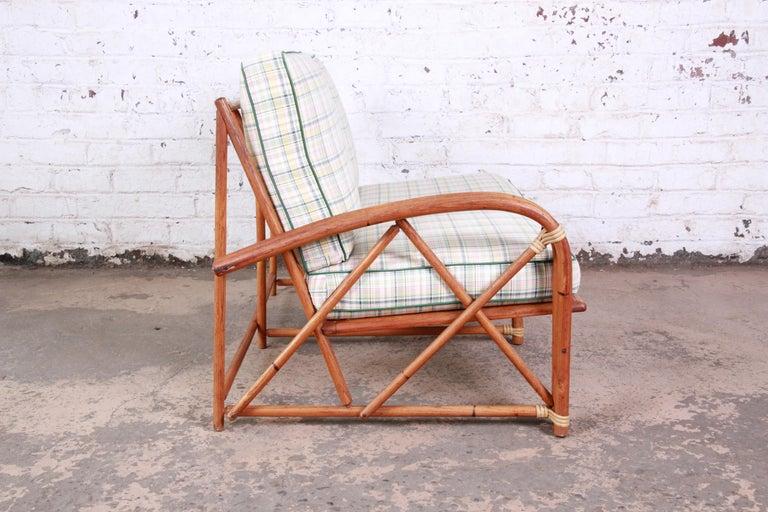 Heywood Wakefield Hollywood Regency Mid-Century Modern Rattan Sofa For Sale 3