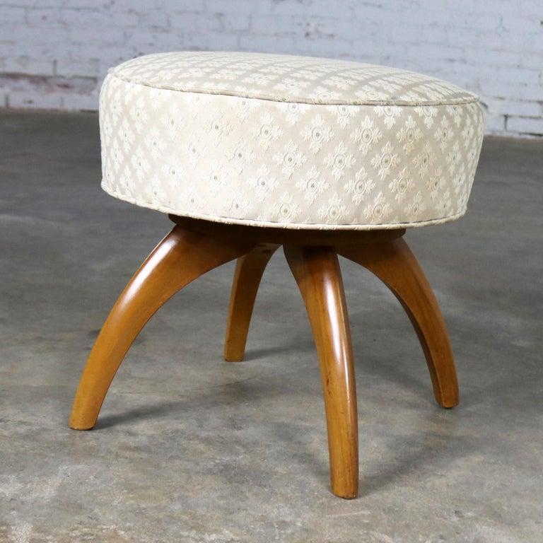 Wondrous Heywood Wakefield Kohinoor Swivel Vanity Stool Ottoman Vintage Andrewgaddart Wooden Chair Designs For Living Room Andrewgaddartcom