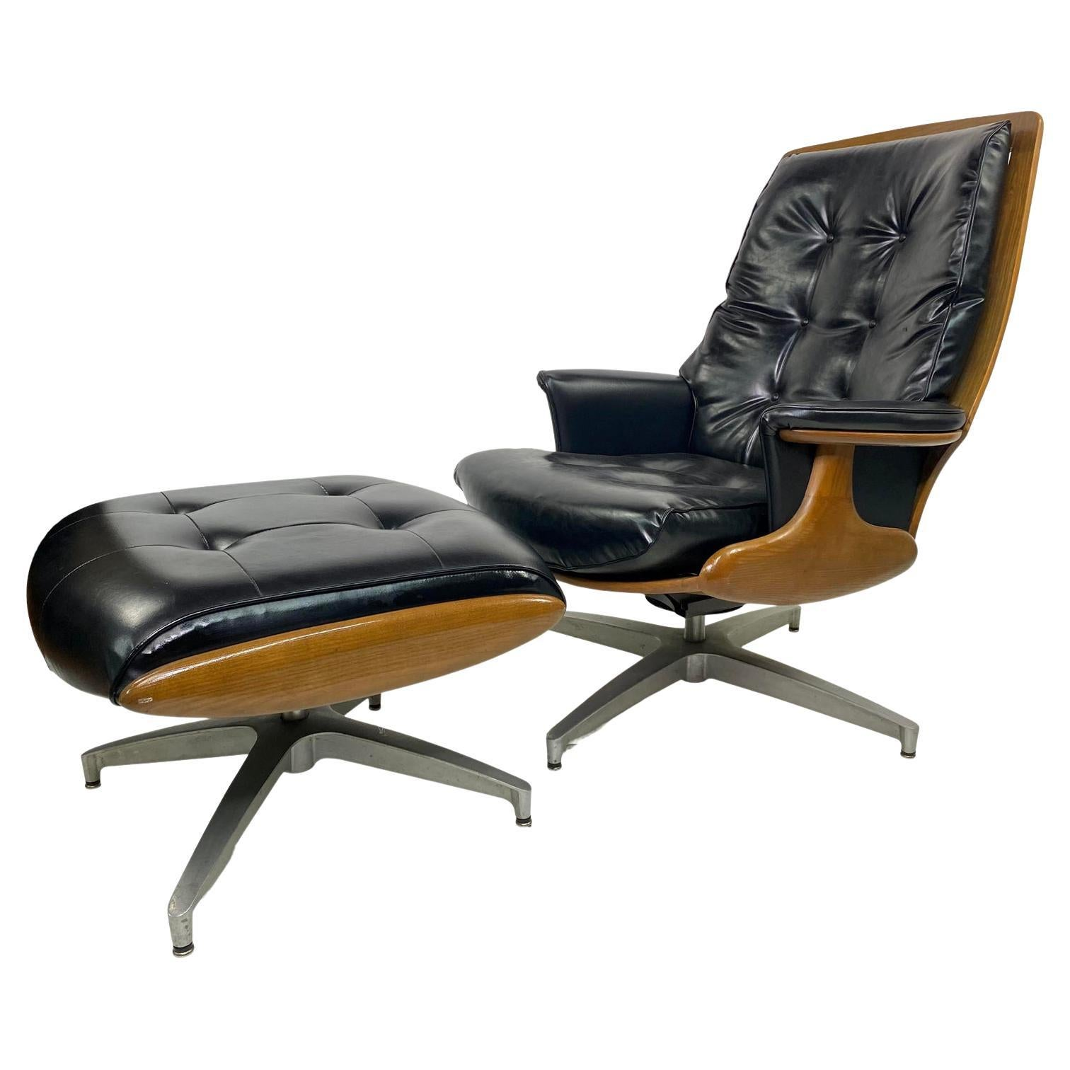 Heywood-Wakefield Lounge Chair and Ottoman