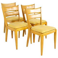 Heywood Wakefield M151 Mid Century Dining Chairs, Set of 4