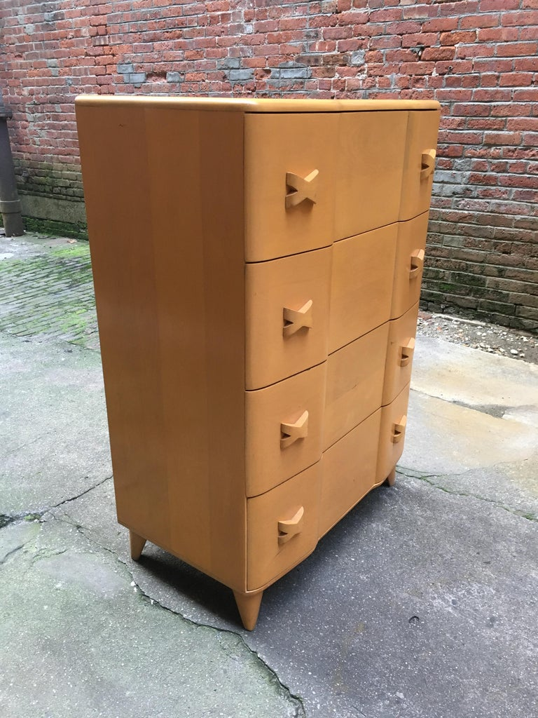 American Heywood Wakefield Maple Rio Dresser For Sale