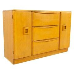 Heywood Wakefield Mid Century Blonde Solid Wood Sideboard Buffet Credenza