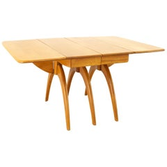 Heywood Wakefield Mid Century Maple Wishbone Expanding Dining Table