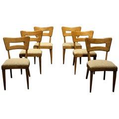 Heywood-Wakefield Mid-Century Modern Dining Chairs, Set of Six