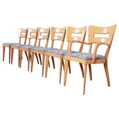 "Heywood Wakefield Mid-Century Modern ""Dog Bone"" Dining Chairs, Reupholstered"