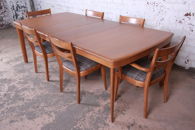 Heywood Wakefield Mid-Century Modern Extension Dining Table and Chairs 3