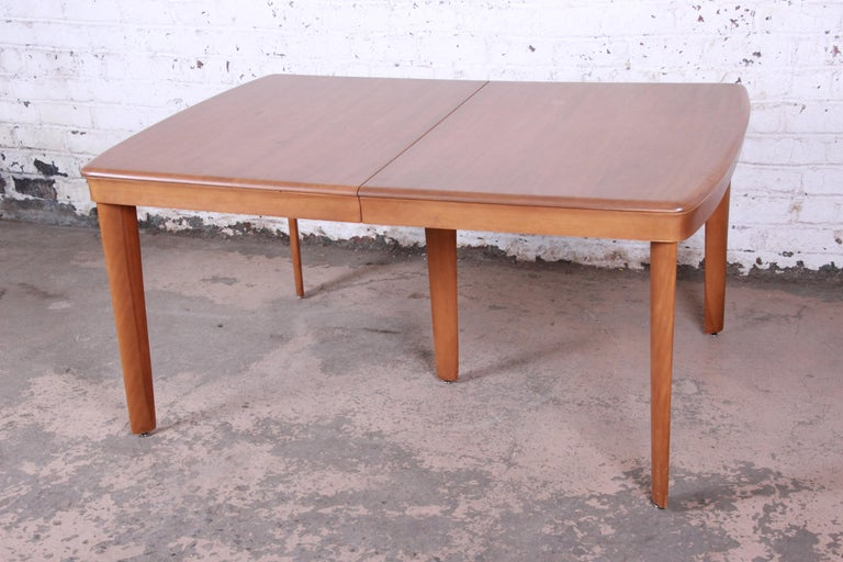 Birch Heywood Wakefield Mid-Century Modern Extension Dining Table and Chairs