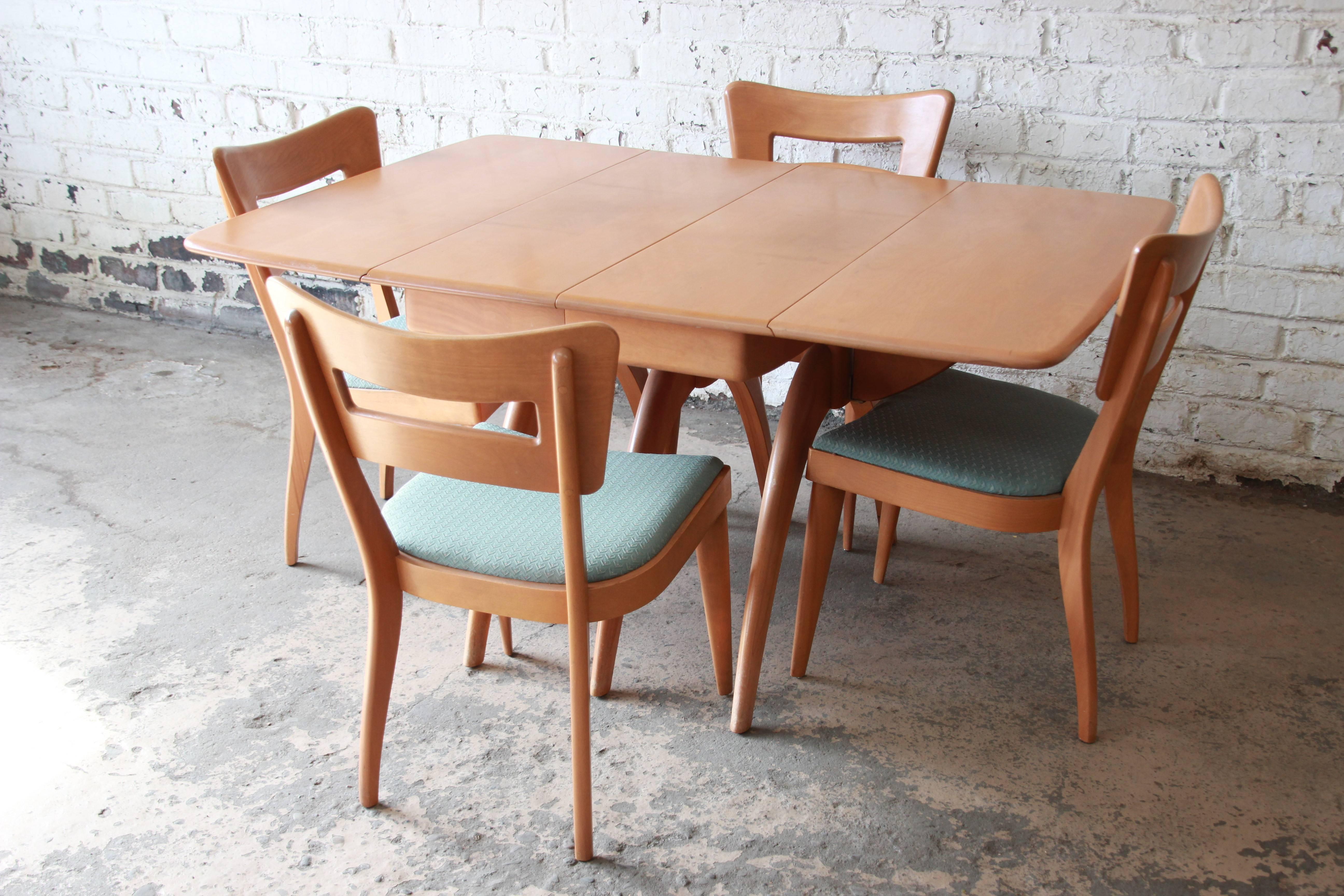 Heywood Wakefield Mid Century Modern Extension Wishbone Dining Table At 1stdibs
