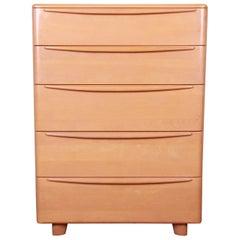 Heywood Wakefield Mid-Century Modern Highboy Dresser, 1950s