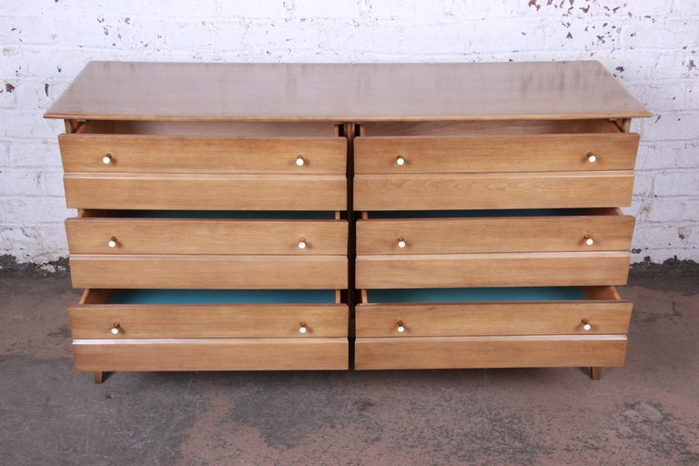 Maple Heywood Wakefield Mid-Century Modern Six-Drawer Dresser