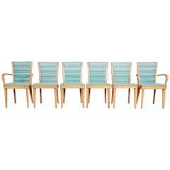 Heywood-Wakefield Mid-Century Modern Solid Maple Dining Chairs, Set of Six