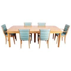 Heywood Wakefield Mid-Century Modern Solid Maple Dining Set, 1950s