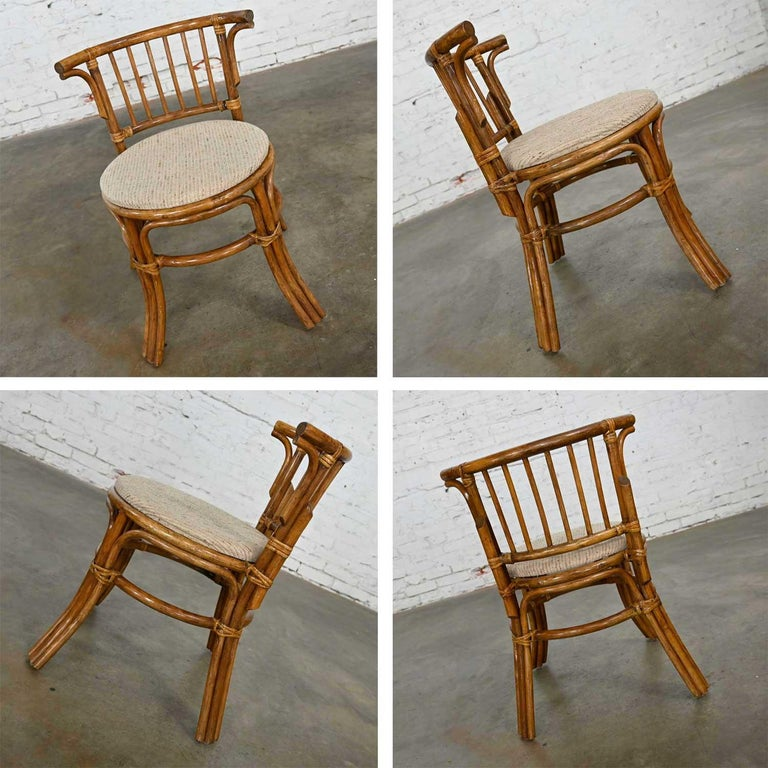 Heywood Wakefield Rattan & Maple Writing Desk & Low Back Chair by Sovereign Furn For Sale 3