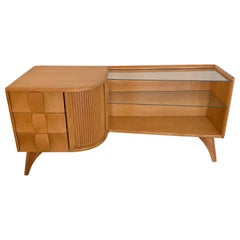 "Heywood Wakefield ""Sculptura"" Asymmetric Low Cabinet or Credenza"