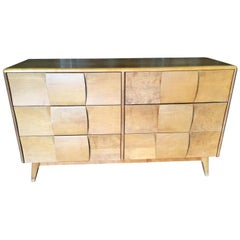 "Heywood-Wakefield ""Sculptura"" Extra Wide 6-Drawer Dresser"