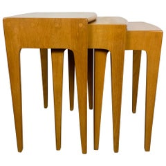 Heywood Wakefield Solid Birch Mid-Century Modern Nesting Tables