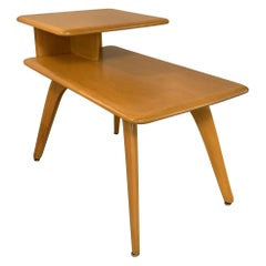 Heywood Wakefield Stepped Birch Side Table