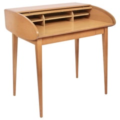 Heywood-Wakefield Streamlined Tambour Desk, 1960s
