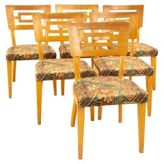 Heywood-Wakefield Style Richardson Furniture MCM Dining Chairs, Set of 6