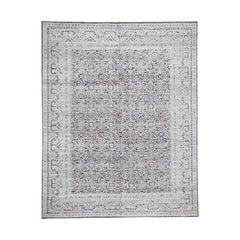 Hi-Low Pile Oxidized Wool Khotan Design Hand Knotted Oriental Rug
