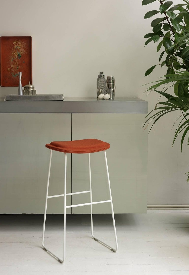 Hi Pad Stool in Fabric or Leather with Metal Leg, Jasper Morrison for Cappellini For Sale 2