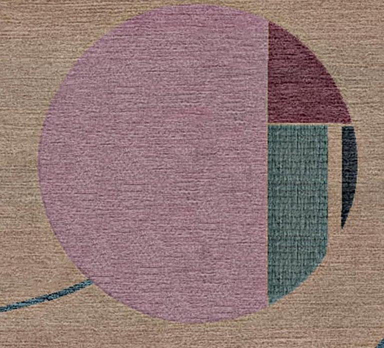 Art Nouveau Hi Scott, I'm Zelda Hand-Tufted Wool and Viscose Rug For Sale