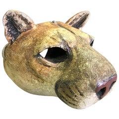 Hib Sabin Carved Wood Spirit Animal Mask