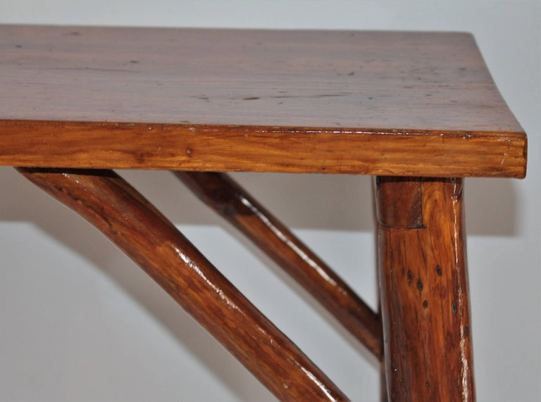 Adirondack Hickory Bench or Table For Sale