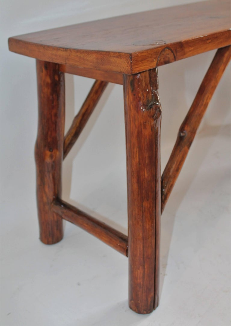 American Hickory Bench or Table For Sale