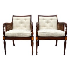 Hickory Chair Regency Style Double Caned Chairs