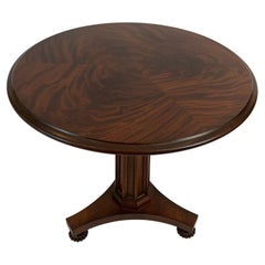 Hickory Chair Traditional Flame Mahogany Round Side Table with Lovely Bun Feet