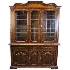 Hickory Chair Tuscan Italian China Display Cabinet Hutch Burled Lattice Doors