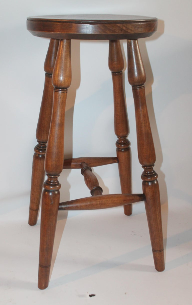 Country Hickory Furniture Company Bar Stools, 3 For Sale
