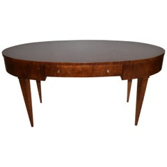 Hickory White Contemporary Oval Full Size Desk