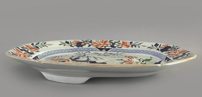 Victorian Hicks & Meigh Staffordshire Meat Platter, circa 1815 For Sale