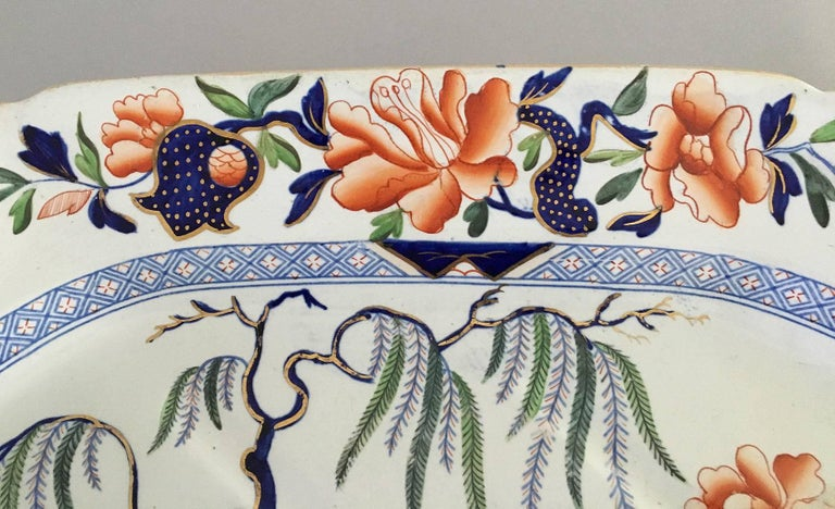 British Hicks & Meigh Staffordshire Meat Platter, circa 1815 For Sale