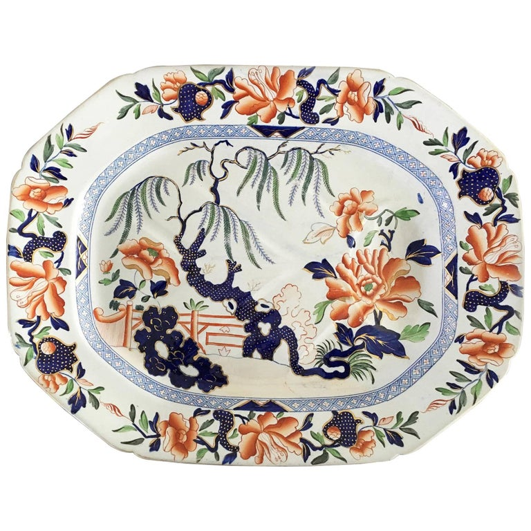 Hicks & Meigh Staffordshire Meat Platter, circa 1815 For Sale