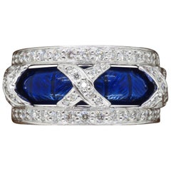 Hidalgo 18 Karat White Gold, Diamond and Enamel Jacket Ring