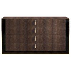 Hide Park.2 Chest Of Drawers in Wood by Roberto Cavalli