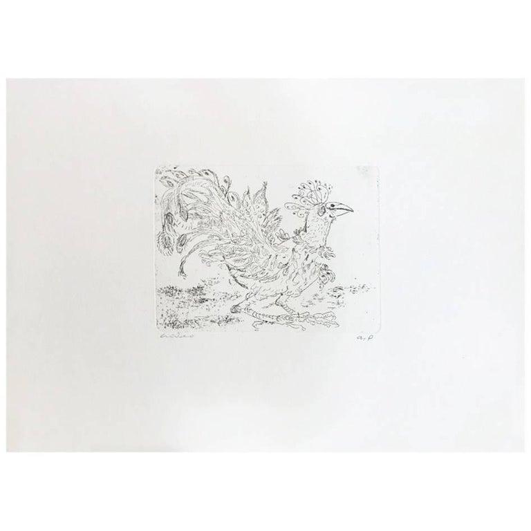 Hideo Hagiwara Japanese Woodblock Print For Sale