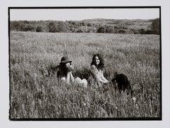 Hideoki, Black & White Photography, Friends in a Field of Grass, Montauk, 1970