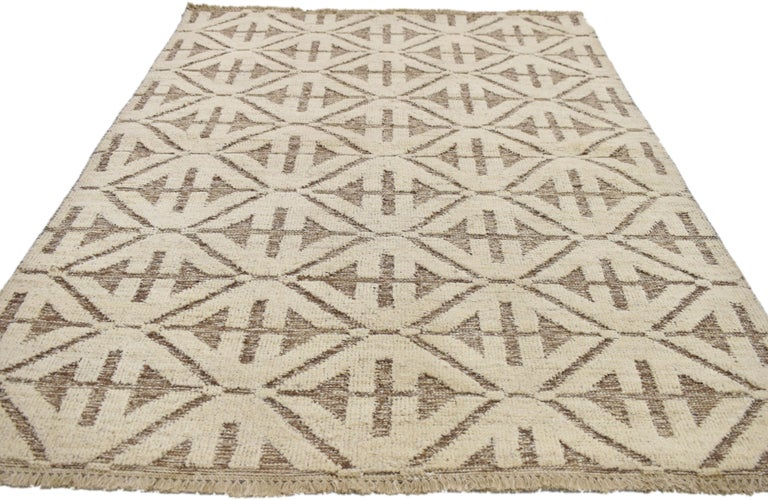 Contemporary High and Low Texture Area Rug with Mid-Century Modern Style In New Condition For Sale In Dallas, TX