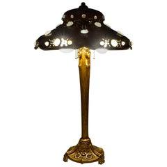 High Art Nouveau Table Lamp with Caryatides, circa 1900