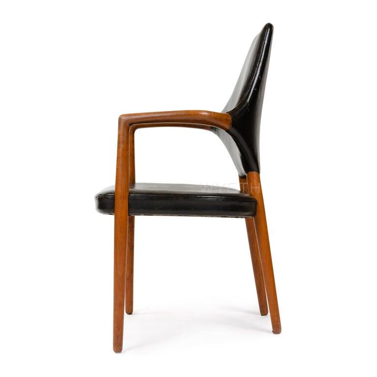 Scandinavian Modern 1950s Danish High Back Armchair / Dining Chair by Vestergaard Jensen For Sale