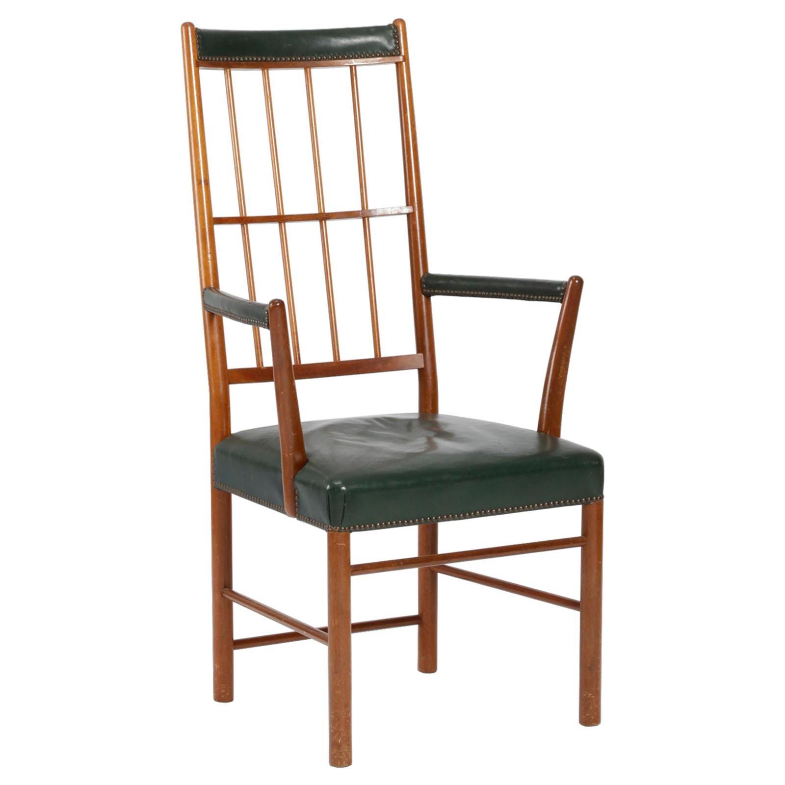 High Back Armchair in Mahogany by Josef Frank for Svenskt Tenn