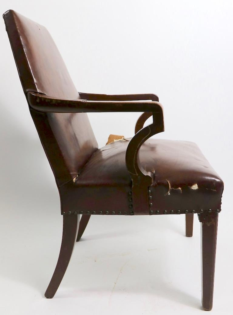 High Back Art Deco Chair For Sale 5