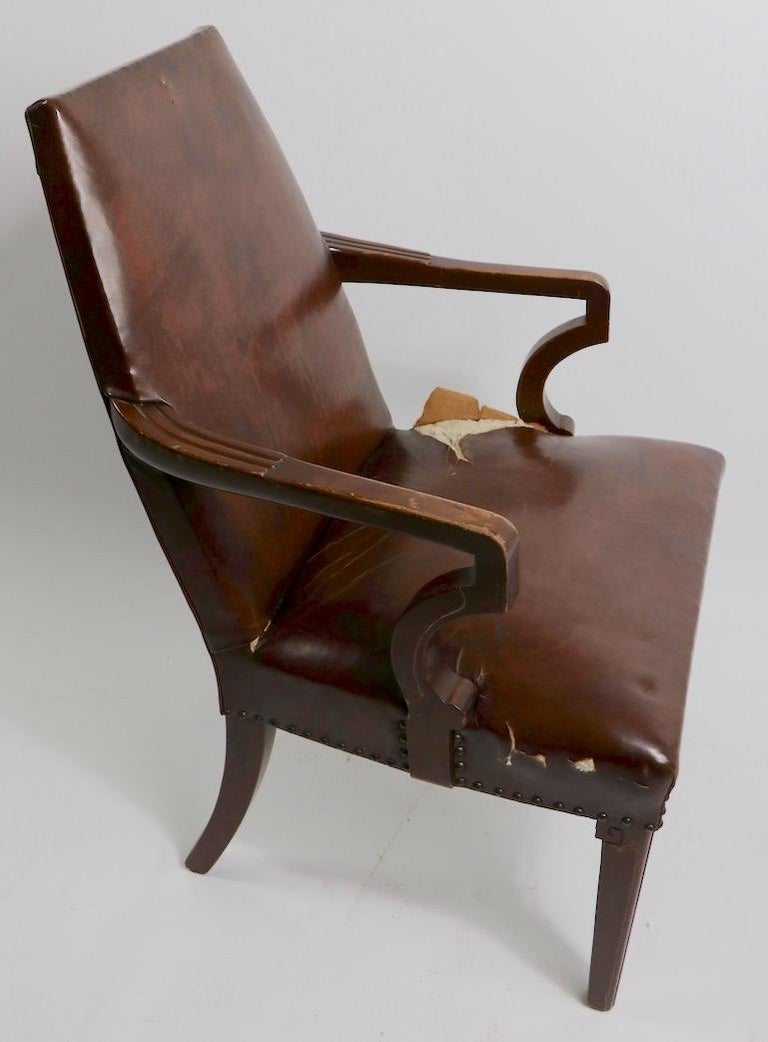 High Back Art Deco Chair For Sale 6
