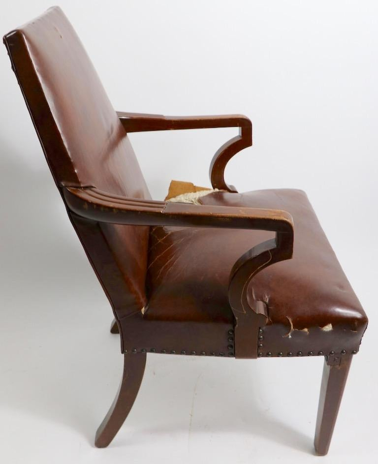 High Back Art Deco Chair For Sale 7